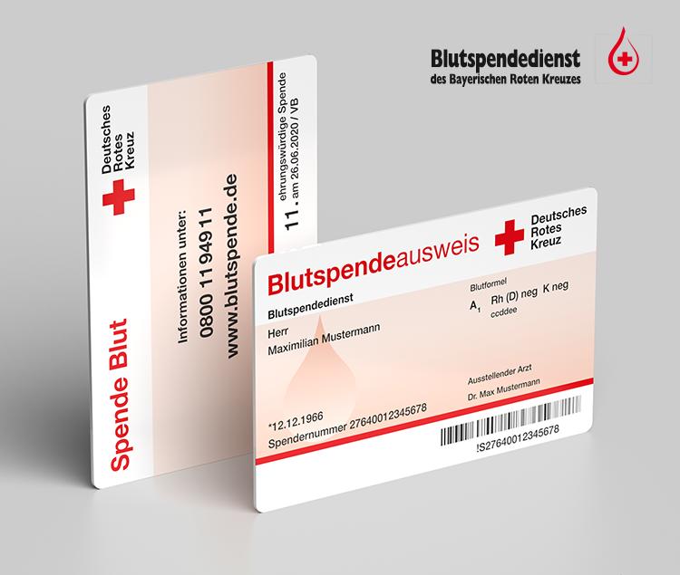 Was bedeuten die Angaben auf dem Blutspendeausweis