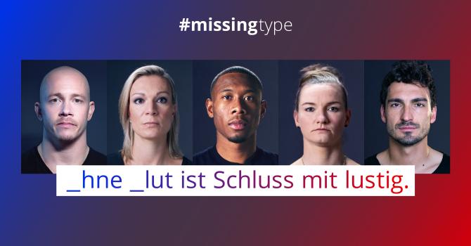 #missingtype 2021 - Bundesweite Aktion zum Weltblutspendertag