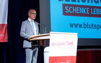 Dr. Franz Weinauer - Blutspenderehrung Dingolfing 2017