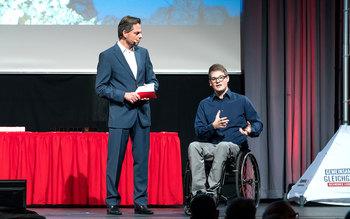 Michael Sporer und Felix Brunner - Blutspenderehrung Straubing 2016